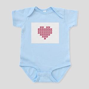 Cross Stitch Heart Body Suit