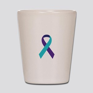 Suicide Awareness Ribbon Shot Glass
