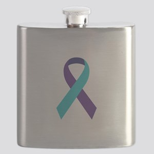 Suicide Awareness Ribbon Flask