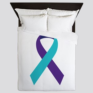 Suicide Awareness Ribbon Queen Duvet