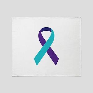 Suicide Awareness Ribbon Throw Blanket