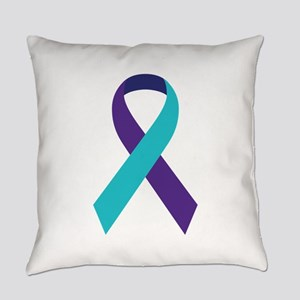 Suicide Awareness Ribbon Everyday Pillow