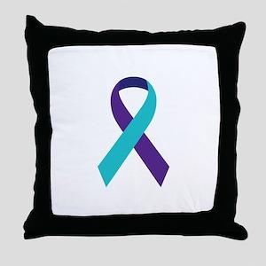 Suicide Awareness Ribbon Throw Pillow