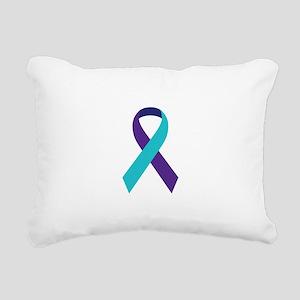 Suicide Awareness Ribbon Rectangular Canvas Pillow