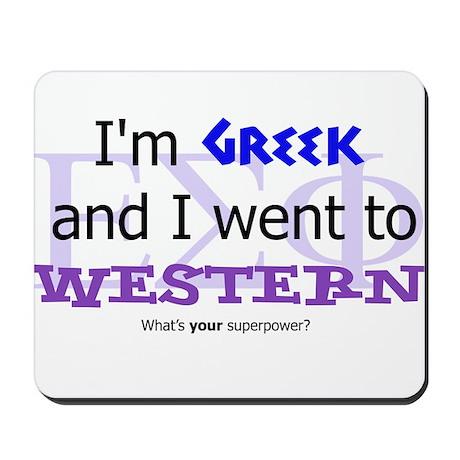 Greek Western Alumni Mousepad