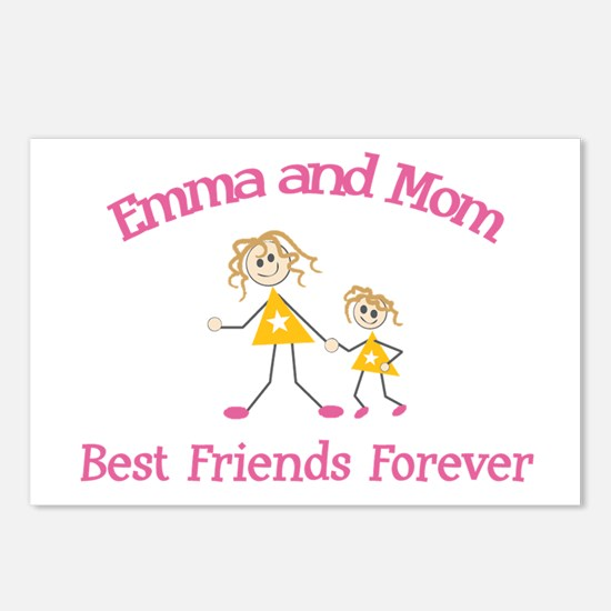 Emma & Mom - Best Friends For Postcards (Package o