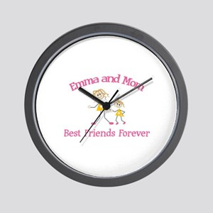 Emma & Mom - Best Friends For Wall Clock