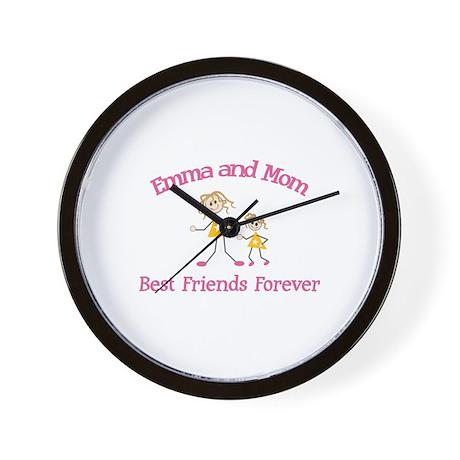Emma & Mom - Best Friends For Wall Clock