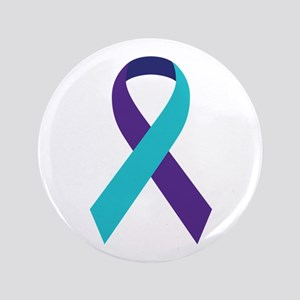 "Suicide Awareness Ribbon 3.5"" Button"