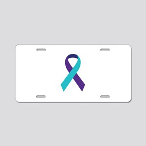Suicide Awareness Ribbon Aluminum License Plate