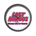 Lost Heroes of the Golden Age Wall Clock