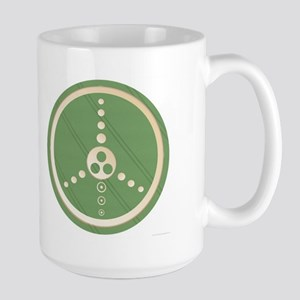 Crop Circle Peace Sign Large Mug