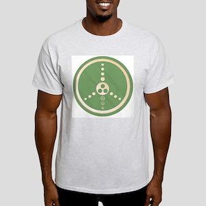 Crop Circle Peace Sign Ash Grey T-Shirt