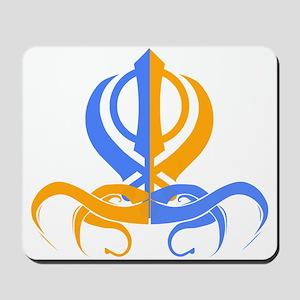 Khanda Orange and Blue Mousepad
