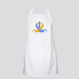 Khanda Orange and Blue BBQ Apron