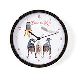 Dairy goat Wall Clocks