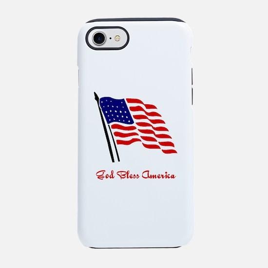 God Bless America Flag iPhone 8/7 Tough Case