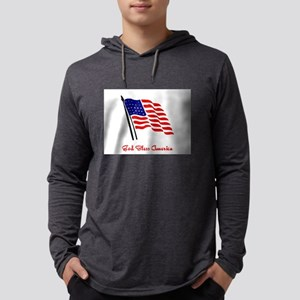 God Bless America Flag Long Sleeve T-Shirt