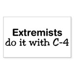 Extremist Rectangle Sticker