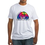 I SUPPORT GAY MARRIAGE Fitted T-Shirt