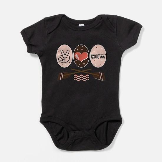 Peace Love Row Crew Infant Bodysuit Body Suit