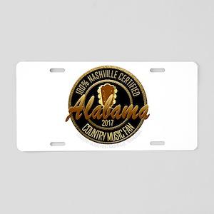 Nashville Certified AL Coun Aluminum License Plate