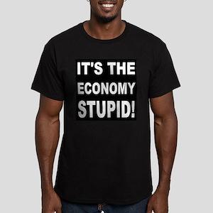 It's the economy stupi Men's Fitted T-Shirt (dark)