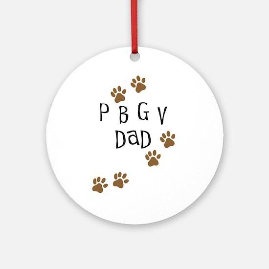 PBGV Dad Ornament (Round)