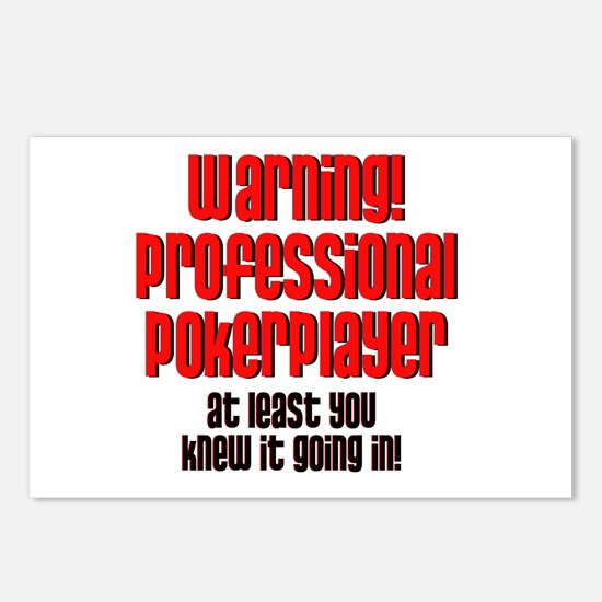 Pro Poker Player! Postcards (Package of 8)
