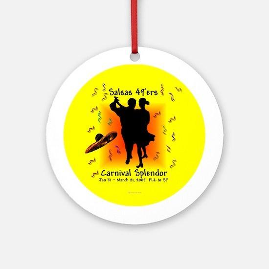 Carnival Splendor Salsas 49'ers Ornament (Round)