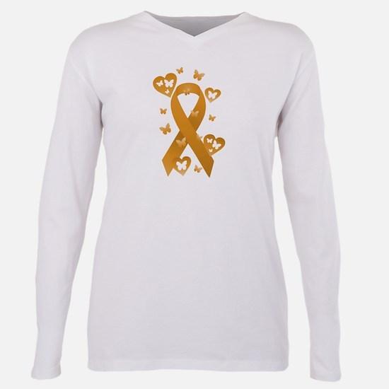 Orange Awareness Ribbon Women's Dark T-Shirt