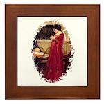 The Crystal Ball by JW Waterhouse Framed Tile