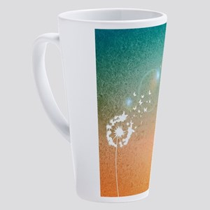 Abstract Dandelion 17 oz Latte Mug