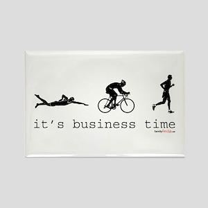 It's Business Time Triathlon Rectangle Magnet