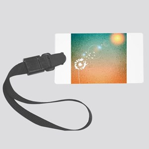 Abstract Dandelion Large Luggage Tag