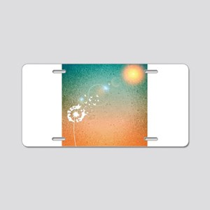 Abstract Dandelion Aluminum License Plate
