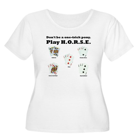 H.O.R.S.E. Rules Poker! Women's Plus Size Scoop Ne
