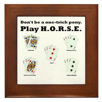 H.O.R.S.E. Rules Poker! Framed Tile