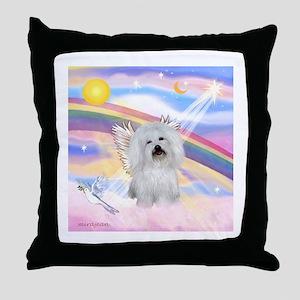 Clouds & Coton De Tulear Throw Pillow