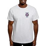 British Steel Maltese Cross Ash Grey T-Shirt