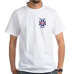 British Steel Maltese Cross White T-Shirt