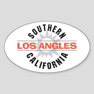 Los Angeles Oval Sticker