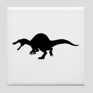 Spinosaurus Silhouette Tile Coaster