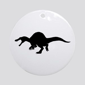 Spinosaurus Silhouette Ornament (Round)