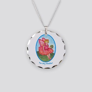 Little Rose Fairy Girl for M Necklace Circle Charm