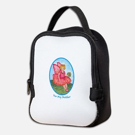 Little Rose Fairy Girl for Moth Neoprene Lunch Bag