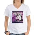 Cat Aquarius Women's V-Neck T-Shirt