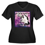 Cat Aquarius Women's Plus Size V-Neck Dark T-Shirt