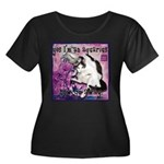 Cat Aquarius Women's Plus Size Scoop Neck Dark T-S
