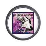 Cat Aquarius Wall Clock